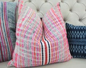 Vintage Hmong cushion cover, Handwoven Fabric-vintage cotton,Decorative Cushion
