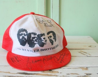 1960s Vintage SIGNED STATLER BROTHERS Hat....mens. womens. classic. hipster. urban. dapper. retro men. band. music. collectible. gospel