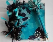 Journal in Turquoise and Black