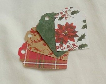 Classic Christmas Gift Tag Set of 24 Tags... These tags have some very classic patterns on them.