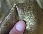 LAST of this - RARE Antique 1920s Gold Metallic Lame Fabric from France