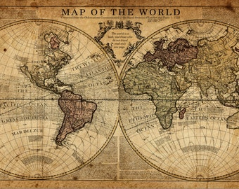 Large world map art on canvas gallery wrap canvas world map globe tan map world map canvas vintage map set large wall art canvas gumiabroncs Choice Image
