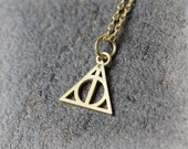 Deathly Hollows Necklace / Choose your color / gold and silver
