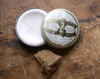 Vintage 2 in 1 White Dressing Tin for Military Equipment and All White Goods