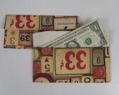 Cent Key Print - Fabric Envelope, Travel Wallet, Money Envelopes, Cash Envelopes, Cash Budget Envelope, Money Gift Bag, Fabric Cash Envelope