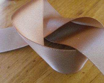 Milk Chocolate Brown Satin Ribbon 7 1/2 Yards
