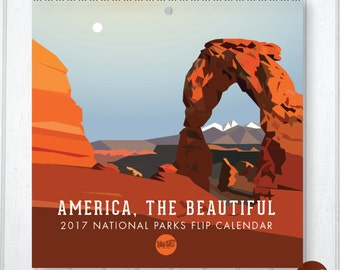 "2017 ""America, the Beautiful"" National Parks Write-On Calendar"