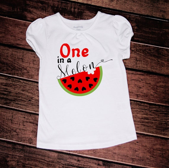 One In A Melon Baby One Piece Watermelon Shirt Baby Girl