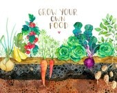 Grow Your Own Food 8x10 Print
