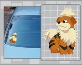GROWLITHE vinyl decal from Pokemon Sticker for Just about Anything!