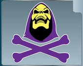SKELETOR Skull & Crossbones vinyl decal from Masters of the Universe Car Window Laptop He-Man Sticker