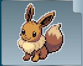 EEVEE Sprite No. 1 vinyl decal sticker from Pokemon Sticker for just about anything!