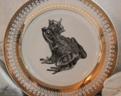 Foodsafe Frog Toad Gold Silver Dinnerware/Plates/Dishes, Tableware, Formal, Payment Plans Available, Discounts on Multiples