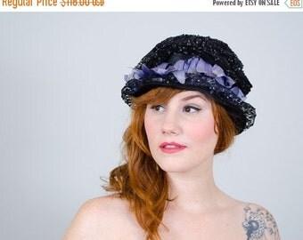 25% OFF SALE / 1910s vintage hat / antique cloche / Fleurette