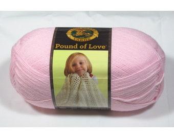 Lion Brand Pound of Love Yarn, Pastel Pink, 16 oz