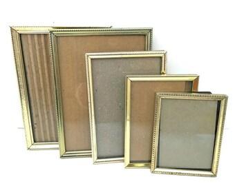 Vintage Picture Frames Gold Metal Assorted - Retro Photo Frames