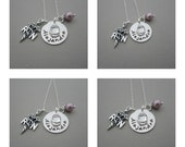 RN/ LPN Nurse, Nurse Necklace, Nurses Jewelry, Hand Stamped Gift w/ Necklace in Sterling Silver, RN Charm custom Birthstone and Pearl