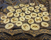 Elm AngloSaxon rune set - Futhorc - FREE DOMESTIC SHIPPING
