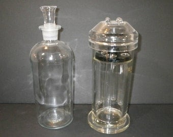 Pair of hard to find apothecary jars