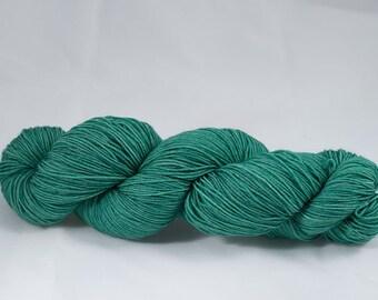 Green Hand Dyed Sock Yarn