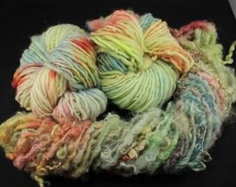 Handspun yarn mix  East Frisean and Teeswater/Gotland bundle,  18 oz, 229 yards