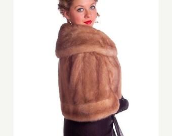 On Sale Now Glamourous Vintage Fur Stole Blonde Ranch Mink 1940s