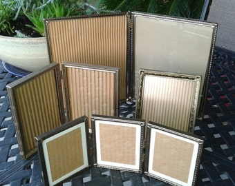 Vintage Metal Frames / Set of 4 / Metal Frames / Ornate Frames / Hollywood Chic / Mid Century