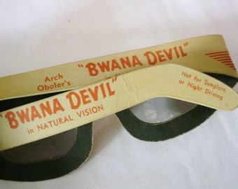 Rare Bwana Devil Original 1952 3D Movie Glasses The Movie That Saved The Movies