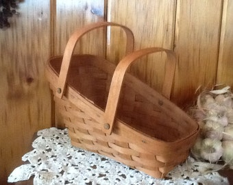 Longaberger Basket Signed & Dated Vintage 1990 Country Farmhouse Decor