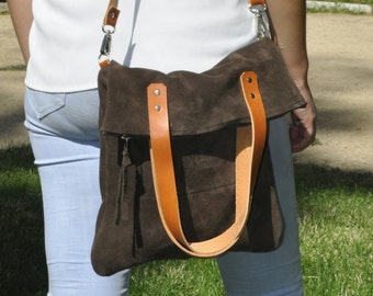 SUMMER leather bag  - MERY model in brown leather