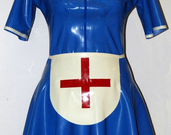 Latex Dress, Latex Nurse Dress and Apron