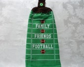 Hanging Double Kitchen Towel Football Towel Family Friends Football Hanging Towel Sports Towel Superbowl Party Towel Fall Towel