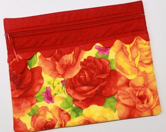 Giant Roses Cross Stitch Embroidery Project Bag