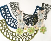 Crotchet Lace and Beaded Patches, 4 Pieces, Crafting Supply, Sewing Supply
