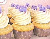 Lavender with White Chocolate Butter Cream Cupcakes 1 dozen - Valentine's Day Treats - Local Charleston Area Pickup Only