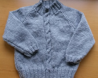 Cosy handknit cable front jumper