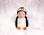 Knitting Pattern - Penguin Pattern - Knit Animal Hat Pattern - Baby Prop Pattern - Newborn Photo Prop Pattern - Knit Photo Prop Pattern
