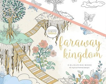 Adult Coloring Book - Faraway Kingdom - 40 Mystical Themed Designs - KaiserColour Perfect Bound Coloring Book (375234)
