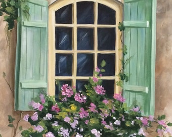 Window with Green Shutters, by Renee MacMurray