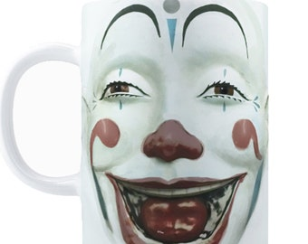 Vintage Style CLOWN FACE Coffee Mug, 11oz or 15oz