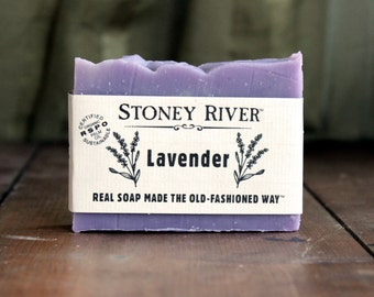 lavender  Natural Soap, Handmade Soap,  Cold Process Soap, Oily Skin Soap, Vegan Soap