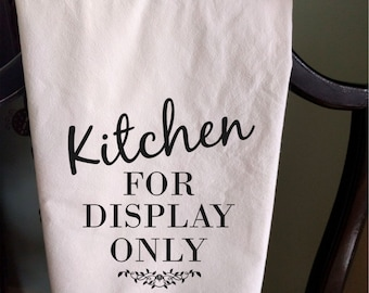 Personalized Tea towel address kitchen for display only house flour sack