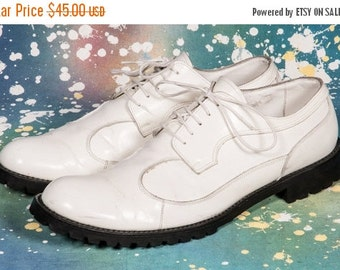 30% OFF White '90s Men's Creeper Shoes Size 11 .5