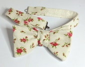 Floral Bow Tie - freestyle bowtie, adjustable, self tie - just for men - Bagzetoile - maker of  mens bowties