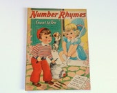 ON SALE Vintage Number Rhyme Book - Florence Salter - Vintage Nursery - Nursery Pictures - 1940s Vintage
