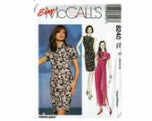 Cheongsam Dress Mandarin style in 2 Lengths OOP Uncut Sewing Pattern Easy McCalls 8240 Sizes 10 12 14 Misses Oriental style