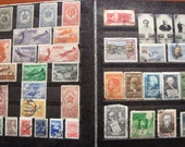 Album with 204 Rare Soviet POSTAGE STAMPS: USSR from year 1929 to 1960 including