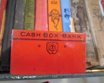 Vintage J Chein Cash Box Bank Tin Coin Bank.    Y-180