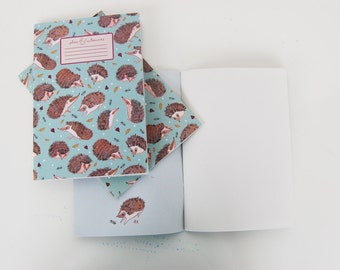Plans & Endeavours A5 Notebook - Hedghog Pattern.