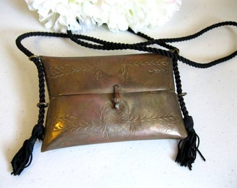 Vintage Brass Pillow Purse